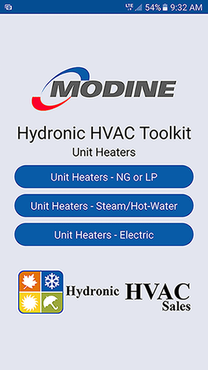 Hydronic-HVAC-Toolkit-App-Screen-1